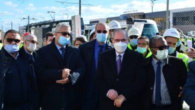 Photo de Alstom/Cosider Travaux Publics: Premier essai dynamique de la ligne du tramway de Constantine